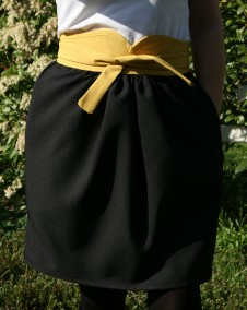 High waistband with tie belt